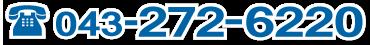 電話番号 043−272−6220